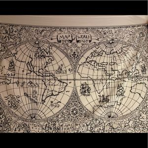 Map of World tapestry